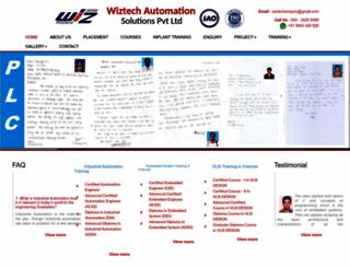 wiztechautomationsolutions.in screenshot