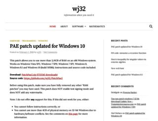 wj32.org screenshot