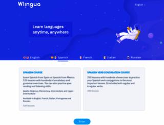 wlingua.com screenshot