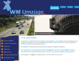 wm-umzuege.de screenshot