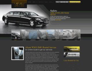 wmlimo.com screenshot
