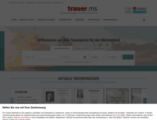 wn-trauer.de screenshot