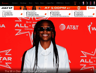 wnba.com screenshot