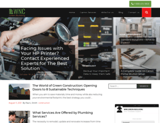 wncgreenbuilding.com screenshot