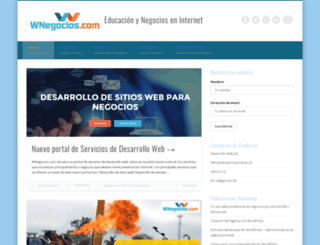 wnegocios.com screenshot