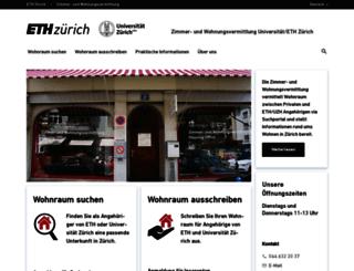 wohnen.ethz.ch screenshot