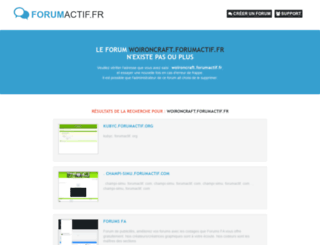 woironcraft.forumactif.fr screenshot