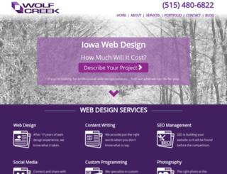 wolfcreekwebdesign.com screenshot