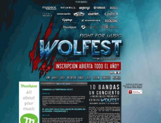 wolfestmusic.com screenshot