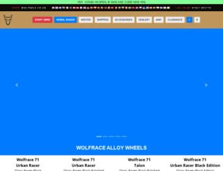 wolfrace.co.uk screenshot