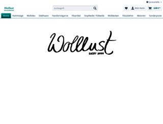 wolllust-schurwollversand.de screenshot