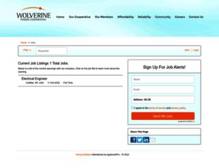 wolverinepowercooperative.applicantpro.com screenshot