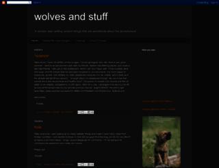 wolvesandstuff.blogspot.com screenshot