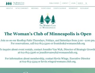 womansclub.org screenshot