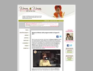 womantowomanradio.com screenshot