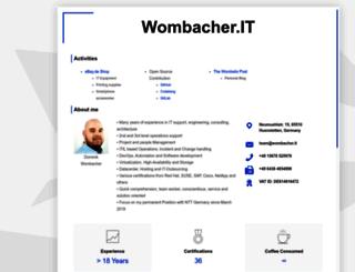 wombacher.it screenshot