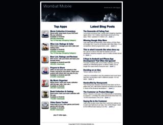 wombatmobile.com screenshot