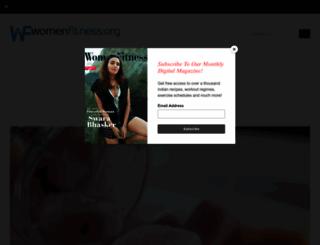 womenfitness.org screenshot