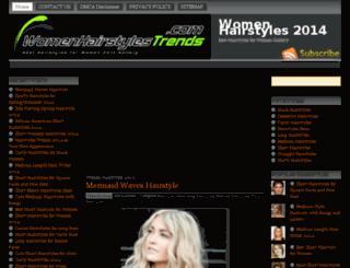 womenhairstylestrends.com screenshot