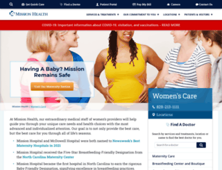 womens.mission-health.org screenshot