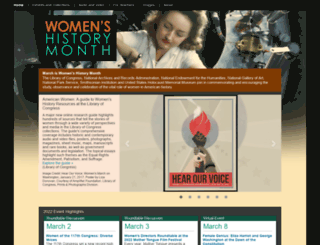 womenshistorymonth.gov screenshot