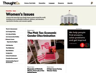womensissues.about.com screenshot