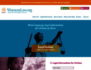 womenslaw.org screenshot