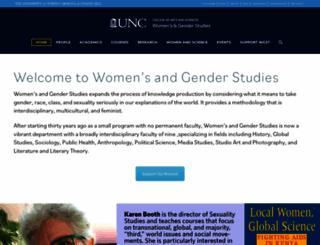 womensstudies.unc.edu screenshot