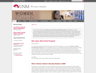 womenstudies.unm.edu screenshot