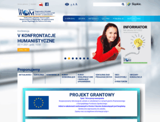womkat.edu.pl screenshot
