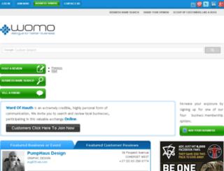 womo.co.za screenshot