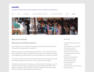 wonder.oca.org screenshot