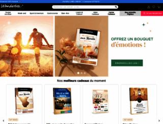 wonderbox.fr screenshot