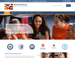 wonderfulessay.com screenshot
