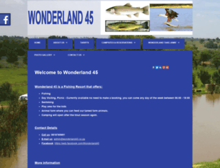 wonderland45.co.za screenshot