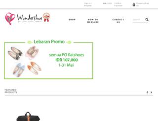 wondershoe.com screenshot