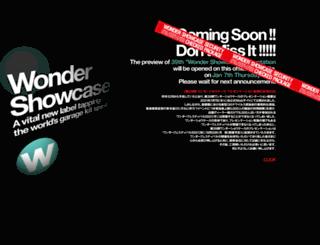 wondershowcase.com screenshot