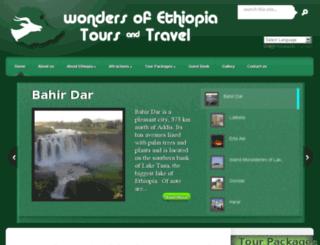wondersofethiopiatours.com screenshot