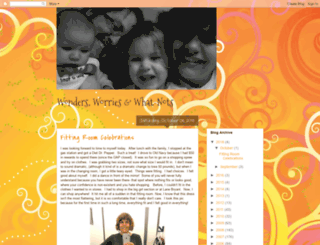 wondersworrieswriting.blogspot.com screenshot