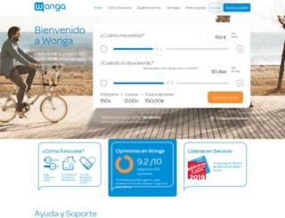 wonga.es screenshot