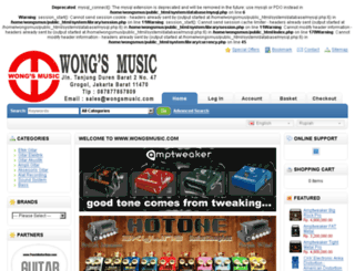 wongsmusic.com screenshot