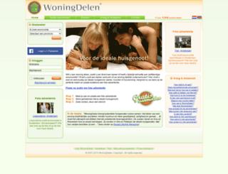 woningdelen.nl screenshot
