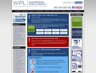 woodbridgelibrary.org screenshot