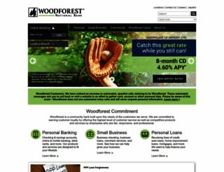 woodforest.com screenshot