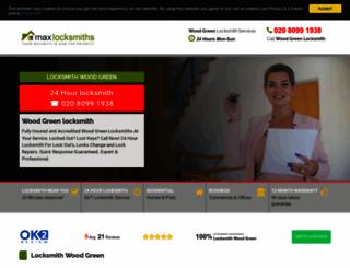 woodgreenmaxlocksmith.co.uk screenshot
