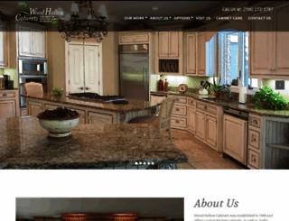 woodhollowcabinets.com screenshot