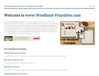 woodland-printables.com screenshot