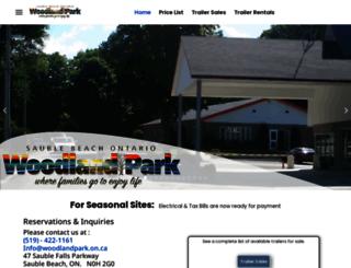 woodlandparkontario.com screenshot