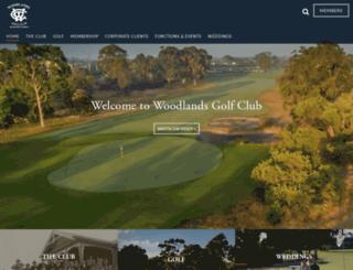 woodlandsgolf.com.au screenshot