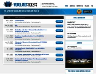 woodlandspavilion.net screenshot